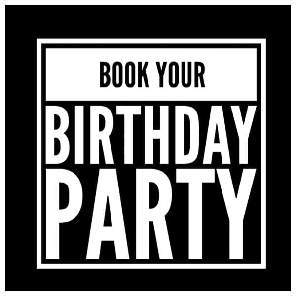 Banner for book your birthday party.