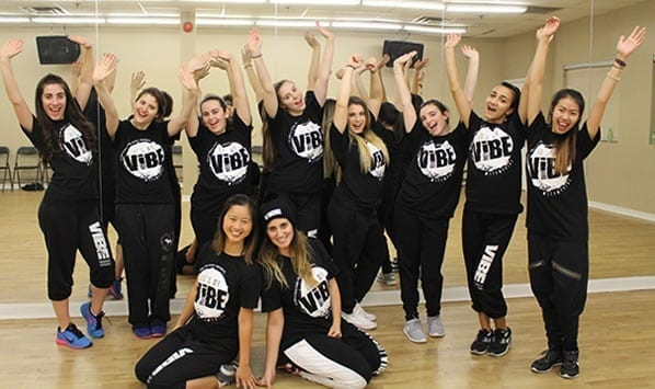 Dance crew final dance pose.